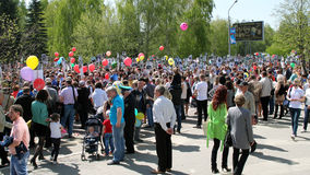 The action Immortal regiment on Victory parade. Royalty Free Stock Photos