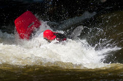 Action in a kayak competition. Stock Photos