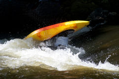 Action in a kayak competition. Stock Image