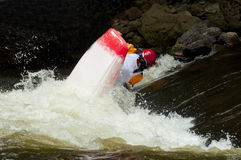 Action in a kayak competition. Stock Photo