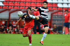 Action ln Thai Premier League 2013 Royalty Free Stock Photography
