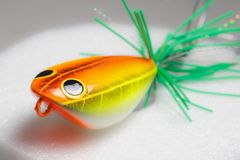 Action lure for sport fishing game Royalty Free Stock Image