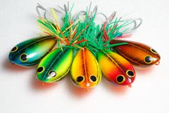 Action lure for sport fishing game Stock Image