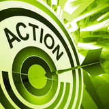 Action Means Proactive To Motivating Fitness Royalty Free Stock Photography