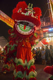 Chinese New Year Celebrations - Bangkok - Thailand. Action - Movement - Chinese Dragon Dance at the Chinese New Year celebrations in the Chinatown district of stock image