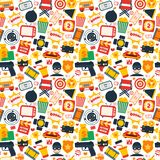 Action movie seamless pattern Royalty Free Stock Photos