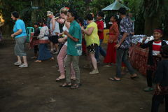 Action by the orphans of a Cacao, coffee and Spice plantation at the village of Kalibaru in East Java Indonesia Stock Image