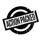 Action Packed rubber stamp Stock Photography