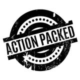 Action Packed rubber stamp Stock Photo