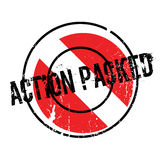 Action Packed rubber stamp Royalty Free Stock Photos