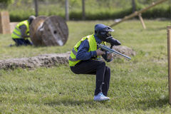 Action paintball Stock Images