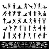 Action people symbol set Royalty Free Stock Images
