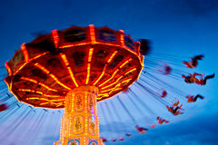 Action photo of carousel stock photography