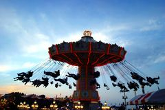 Action photo of carousel royalty free stock photography