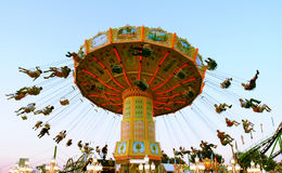 Action photo of carousel Royalty Free Stock Photo