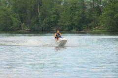 Action Photo Man on jet ski. Royalty Free Stock Images