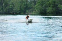 Action Photo Man on jet ski. Stock Photography