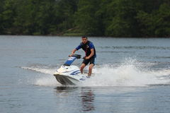Action Photo Man on jet ski.  Royalty Free Stock Photos