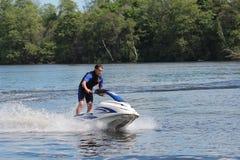 Action Photo Man on jet ski. Stock Photos
