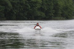 Action Photo Man on Seadoo Watercraft Royalty Free Stock Images