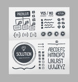 Action Plan – Hand Drawn Elements Template. Handmade collection of template elements for creating action plan layout Royalty Free Stock Image