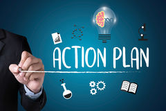 ACTION PLAN ,  Action Plan Strategy Vision Planning , Creative D Stock Photography