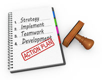 Action plan concept Royalty Free Stock Photo