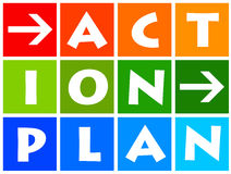 Action plan. Having a action plan for emergency and contingency situations Stock Photography