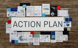 Action Plan Innovation Planning Strategy Vision Concept.  Royalty Free Stock Photos