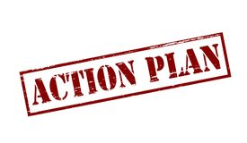 Action plan. Rubber stamp with text action plan inside,  illustration Royalty Free Stock Images