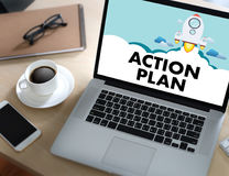 ACTION PLAN Strategy Vision Planning , Creative Development Proc Royalty Free Stock Photos