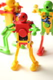 Action plastic Robot   on white Royalty Free Stock Photo
