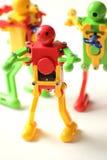 Action plastic Robot   on white Royalty Free Stock Photo