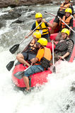 Action at rafting racing in Thailand. Stock Photography