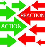 Action and reaction royalty free illustration
