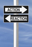 Action and Reaction Royalty Free Stock Photos