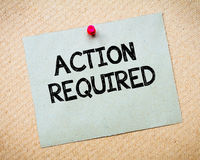 Action Required Message Royalty Free Stock Images