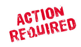 Action Required rubber stamp Stock Images