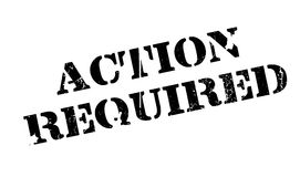 Action Required rubber stamp Stock Photo