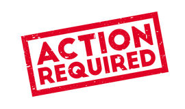 Action Required rubber stamp Stock Image