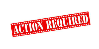 Action required Royalty Free Stock Photo