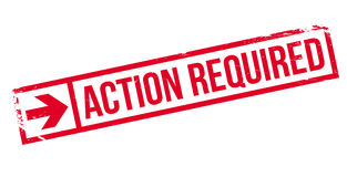 Action required stamp Royalty Free Stock Photography
