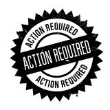 Action required stamp. Grunge design with dust scratches. Effects can be easily removed for a clean, crisp look. Color is easily changed Royalty Free Stock Photography