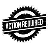 Action required stamp Stock Photos