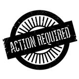Action required stamp vector illustration