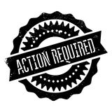 Action required stamp Royalty Free Stock Images