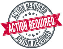 Action required stamp Stock Image