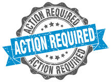 Action required stamp. Sign. seal Stock Photography
