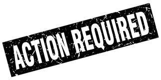 Action required stamp Royalty Free Stock Image