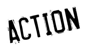Action rubber stamp Stock Photography